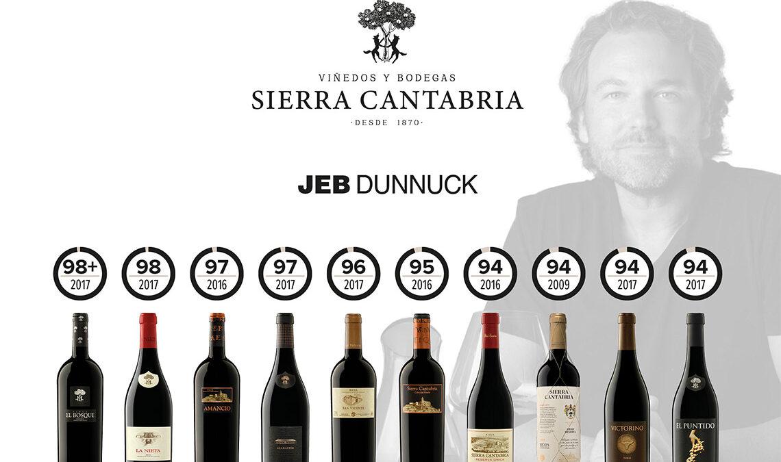 Jeb Dunnuck puntuaciones para Viñedos y Bodegas Sierra Cantabria